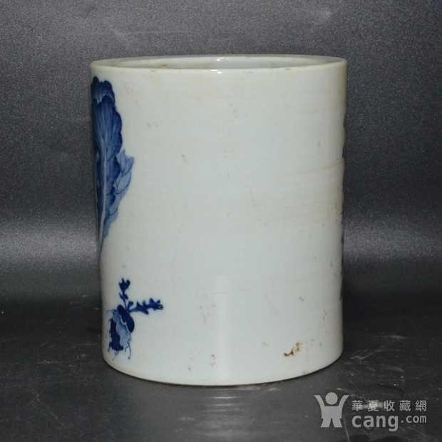 英国回流的中国瓷大笔筒青花图7