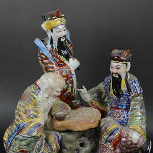 英国回流的福禄寿三星塑像