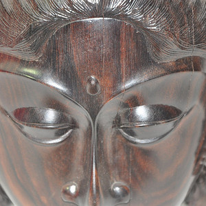 硬木雕刻仙女头像