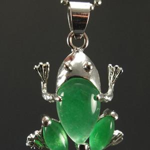 925银镶嵌 绿翡翠项链