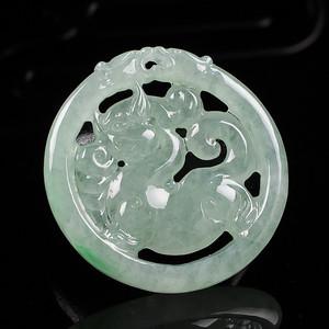 A货翡翠冰糯种麒麟牌31.86g