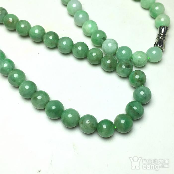 精品级满绿翡翠A货项链图4