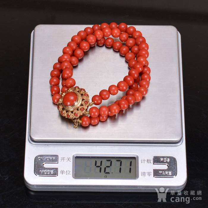 14k金 天然红珊瑚手链图10