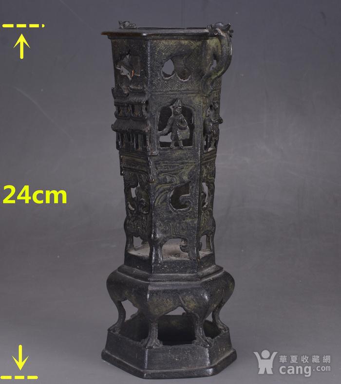 明清 浮雕 人物 六方香筒图2