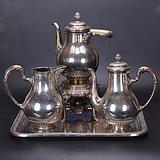 欧洲 老式 银茶具一套