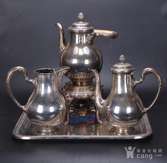 欧洲 老式 银茶具一套图1
