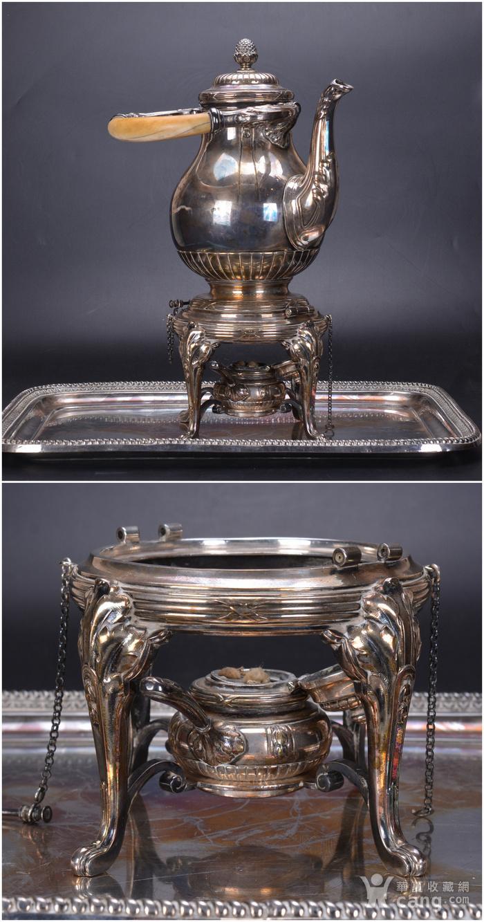 欧洲 老式 银茶具一套图2