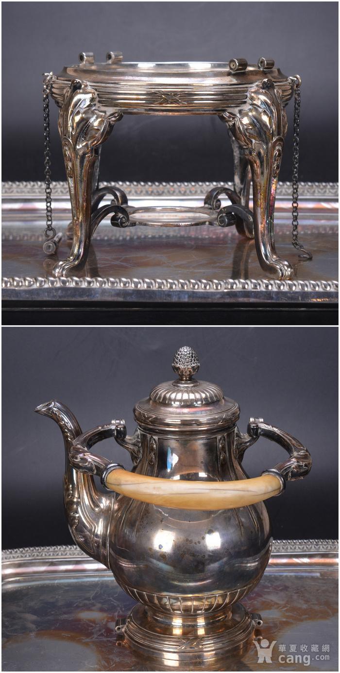 欧洲 老式 银茶具一套图3