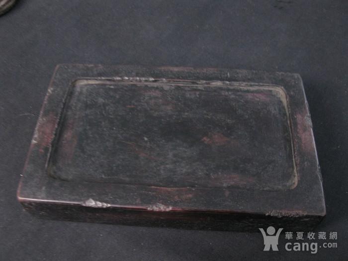 清代龙纹砚台图4