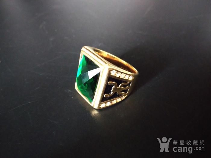 绿宝k金指环图2