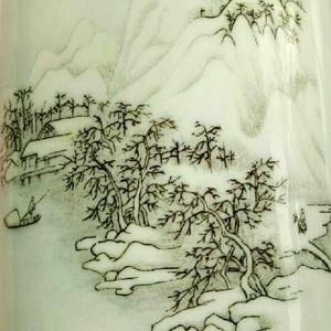 回流之中国醴陵瓷 笔筒