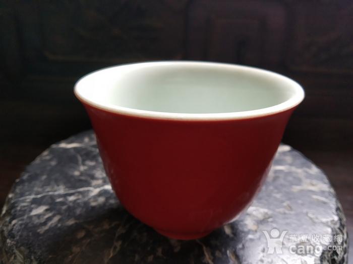 海外回流 红釉杯图3