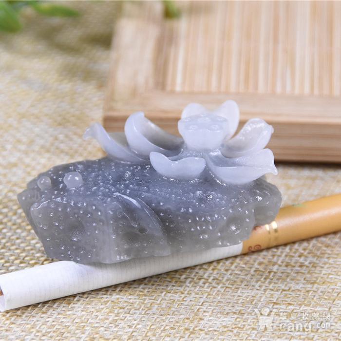 和田玉  石上莲花 与佛有缘 香插图7