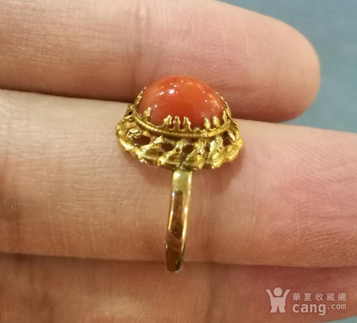 天然红珊瑚吊坠戒指图4