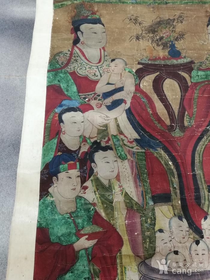 清代 道教人物 水陆画 立轴图7