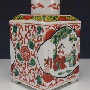 国外回流民国粉彩茶叶瓷罐