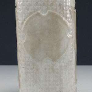 清代 德化窑白釉 挂瓶