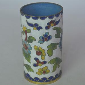 精美花卉珐琅彩笔筒