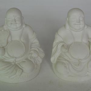 白瓷弥勒佛两个