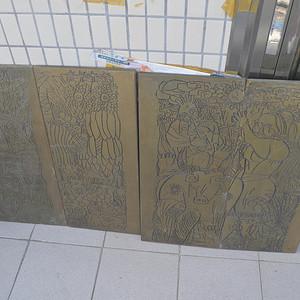 樟木木刻板四条屏