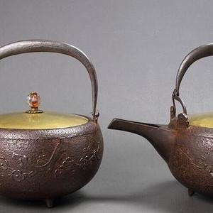 日本明治期,铁壶一对儿