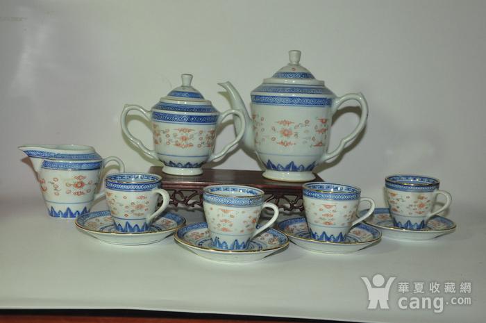 80年代玲珑瓷茶具一套图2