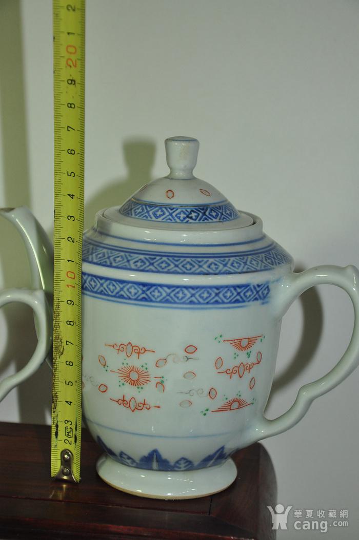 80年代玲珑瓷茶具一套图4