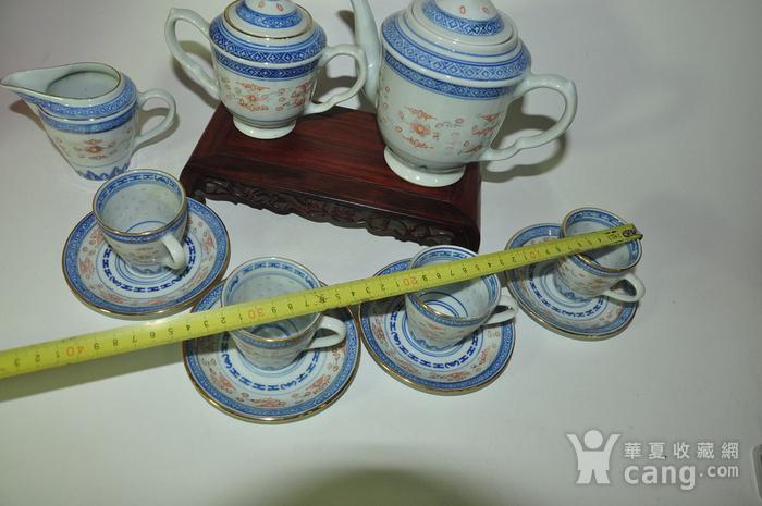 80年代玲珑瓷茶具一套图7