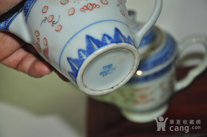 80年代玲珑瓷茶具一套图11