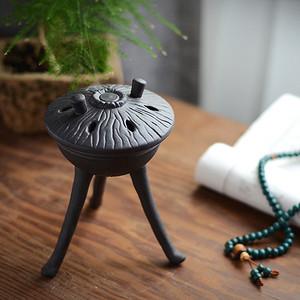 陶瓷佛具摆件 三足香炉