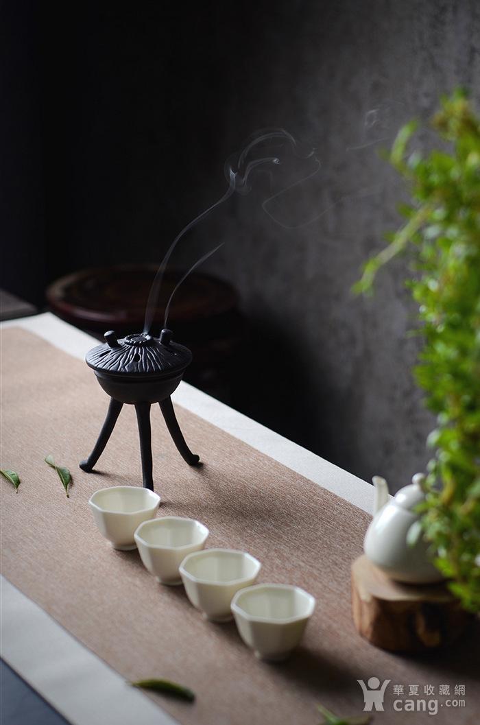陶瓷佛具摆件 三足香炉图4