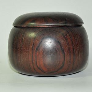 日本产硬木围棋罐一个