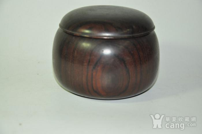 日本产硬木围棋罐一个图2