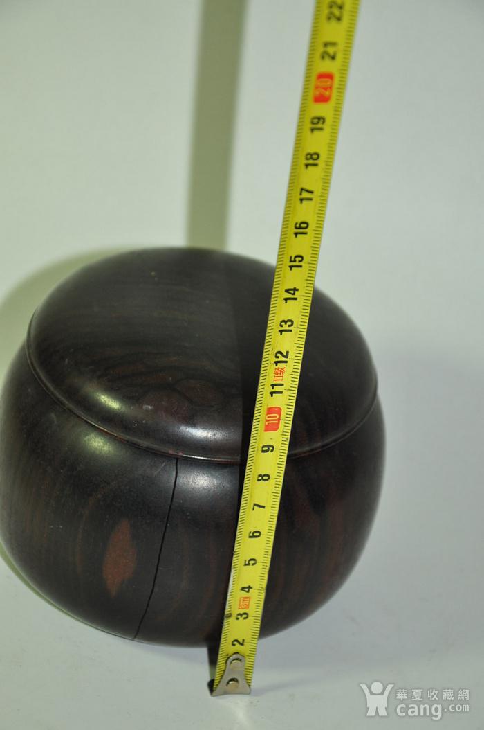 日本产硬木围棋罐一个图7