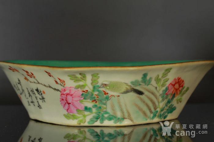 清代粉彩角碗海棠碗三个图3