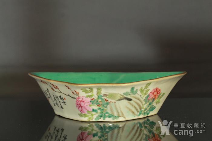清代粉彩角碗海棠碗三个图2