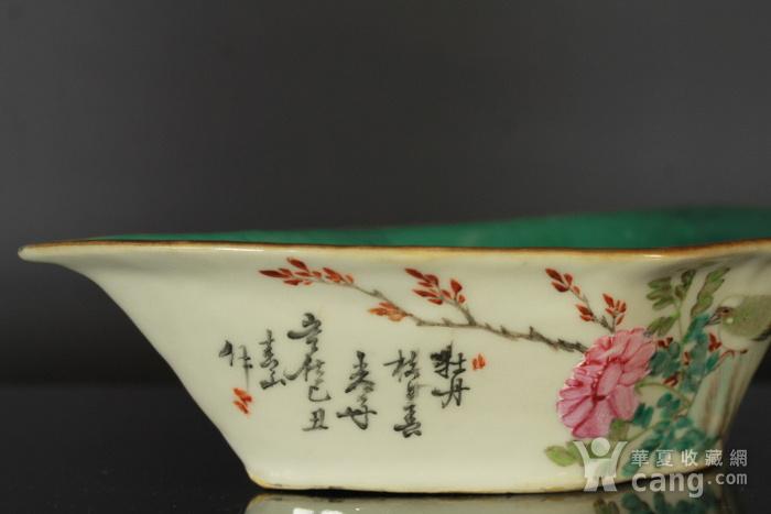 清代粉彩角碗海棠碗三个图4