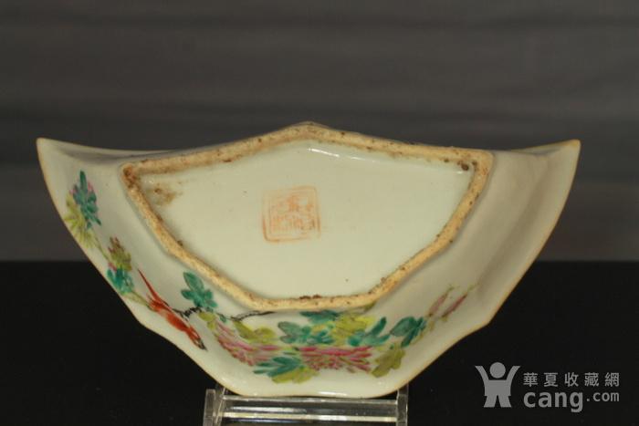 清代粉彩角碗海棠碗三个图8