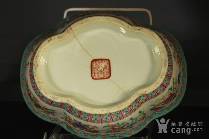清代粉彩角碗海棠碗三个图12