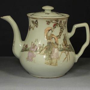 民国江西瓷业公司粉彩大茶壶