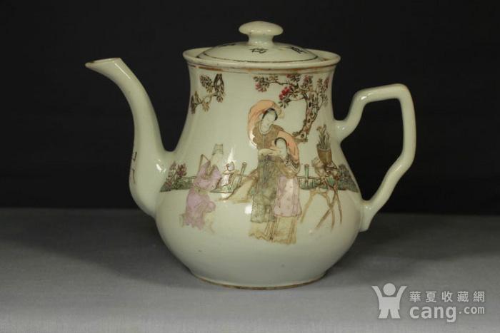 民国江西瓷业公司粉彩大茶壶图1