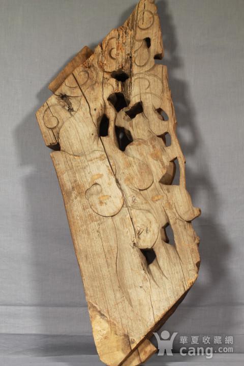 清代持莲童子大木雕 85厘米图11