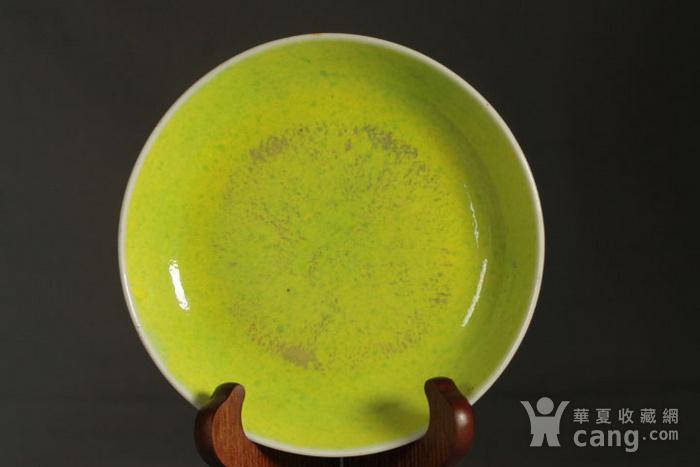 清雍正柠檬黄,胭脂红,宝石蓝釉盘三件套图10