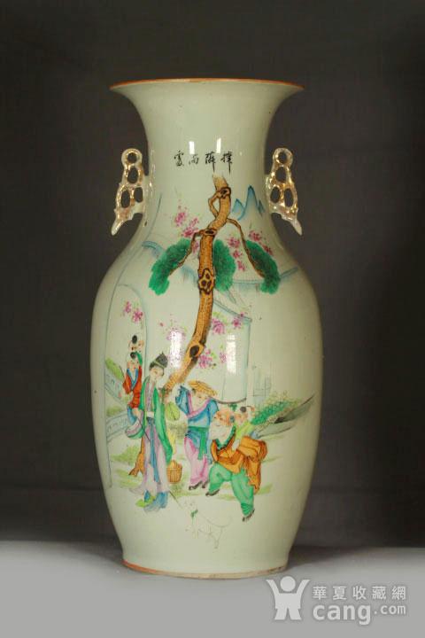 民国早期制瓷名家周图真粉彩孟母三迁纹150件大瓶图1