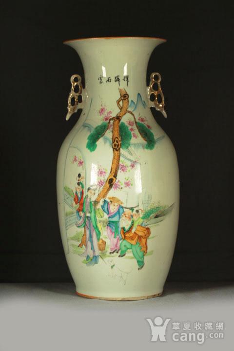 民国早期制瓷名家周图真粉彩孟母三迁纹150件大瓶图3