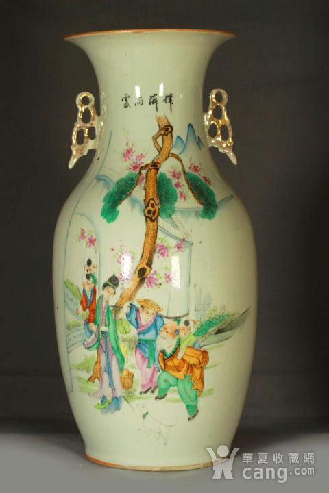 民国早期制瓷名家周图真粉彩孟母三迁纹150件大瓶图2