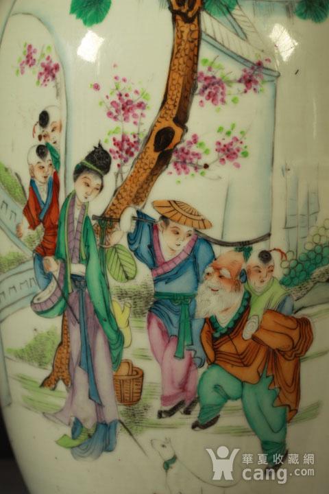 民国早期制瓷名家周图真粉彩孟母三迁纹150件大瓶图5