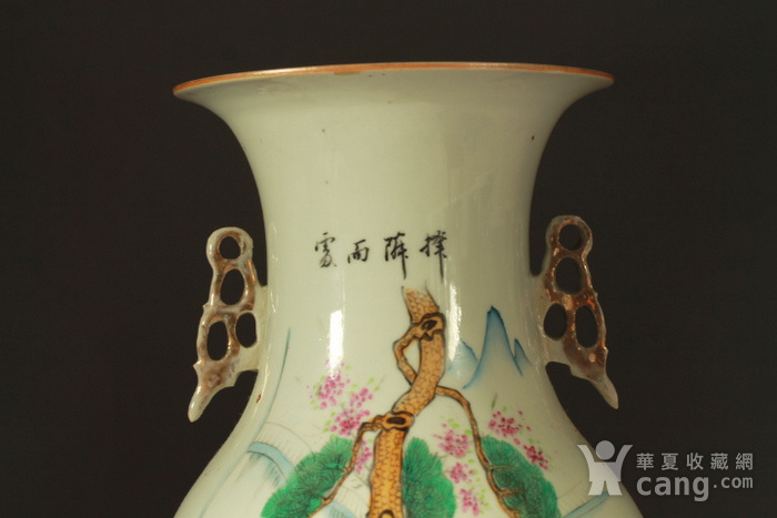 民国早期制瓷名家周图真粉彩孟母三迁纹150件大瓶图8