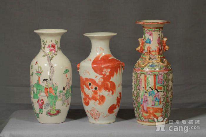 清代瓷瓶三个 全品图1