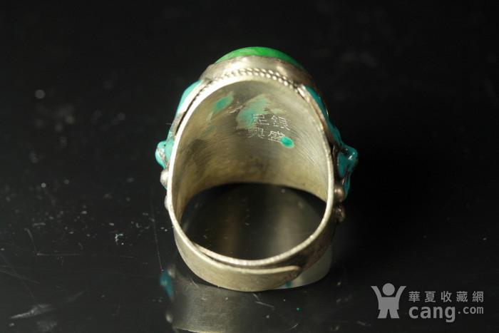 极品 民国正绿翡翠戒指 包老包A货图8
